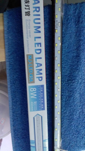 Imagem 1 de 2 de Minjiang Aquarium Led Lamp Branco E Azul 44cm 8w 220v