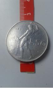 Moeda - L 50 - República Italiana - 1963