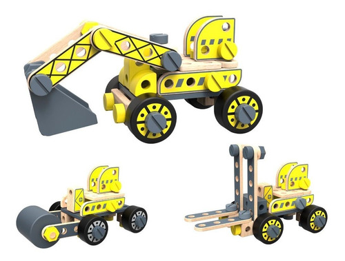 Excavadora De Madera De Tooky Toy (tkf035)