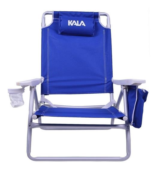 Cadeira Praia Pescaria Reclinável Com Bolsa Térmica Kala