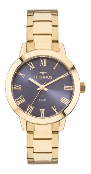 Relógio Technos Feminino Dourado Social Prova 2035mku/4a
