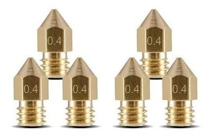 Bico Nozzle Impressora 3d 1.75mm 0,4mm Mk8 Ender -2 Unidades