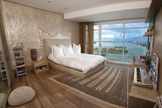 Departamento Pent-house Sin Muebles En Renta, 5 Recamaras, En Punta Cancún Zona Hotelera