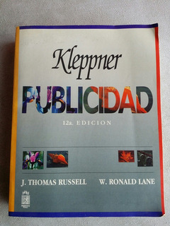 Libro Publicidad De Kleppner Russell Lane