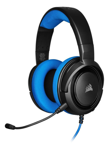 Imagen 1 de 4 de Audífonos gamer Corsair HS35 Stereo blue