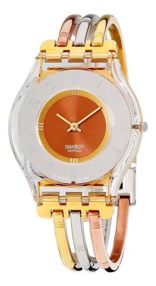 Relógio Feminino Swatch Sfk240a Aço Inoxidável