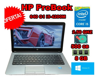 Laptop I5 4ta Hp Probook 640 8gb 500gb Lcd 14