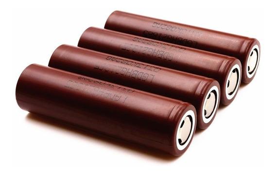 4 X Baterias 18650 LG Hg2 3.7v 3000mah + Brinde