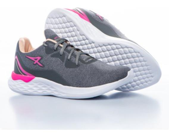 Zapatilla Athix Vibes Flexy Grafito Pink T 34 35 36 37 38
