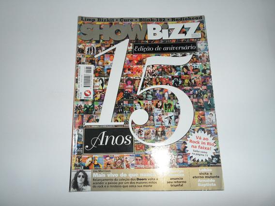 Revista Showbizz - 15 Anos - The Doors, The Cure, Radiohead