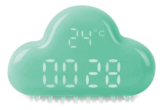 Relógio Led Despertador Digital Usb Bateria Interna Nuvem