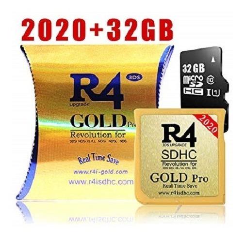 Cartão R4 Gold Pro 2020 Com Sd 32gb - 3ds / 2ds / Dsi / Ds