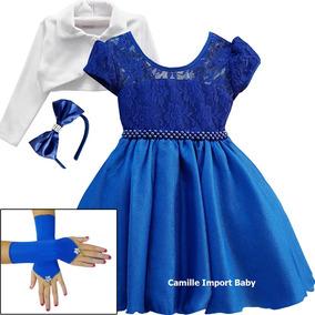 Vestido Festa Infantil Floral Princesa Luxo E Tiara E Bolero