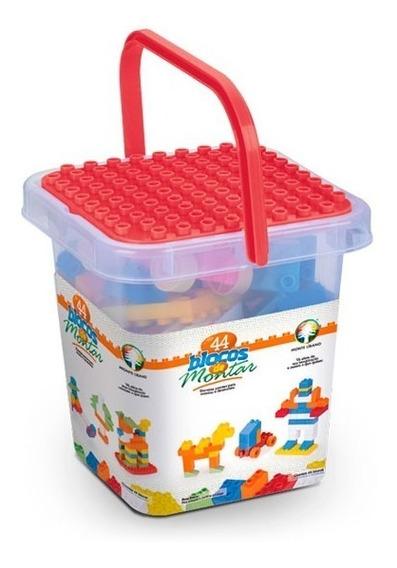 Brinquedo Educativo Peças De Encaixe Montando Tudo 84 Pçs