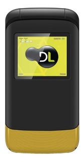 Telefone Celular Flip Dl Idoso Dual Sim Rádio Câmera Amarelo