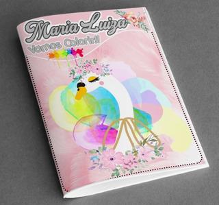 Livro De Colorir Tema Personalizado - 5 Unid