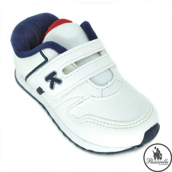 Tênis Masculino Bebê Klin Mini Walk 453 050 - Branco