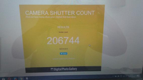 Camera Nikon D610 Com 206744 Cliques (usada)
