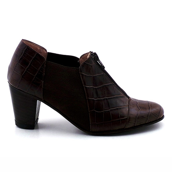 Zapato Mujer Cerrado Cuero Briganti Taco Suela - Mccz03252