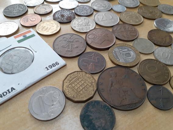 Lote # 2 De 50 Monedas Antiguas Internacionales Diferentes