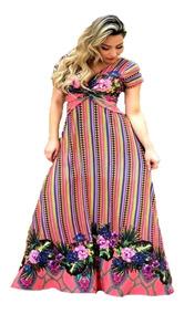 Vestido Feminino Longo P, M G E Plus Size Do Gg 44 Ao Xg 48