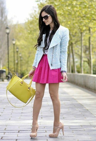 Ropa Casual Falda Moda Flores Rosa Nueva Dama Primavera