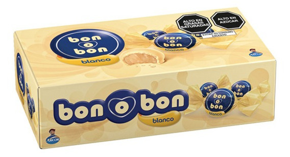 Display Bon O Bon Blanco 450g - 30 Unidades