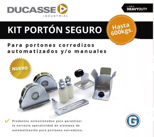 Imagen 1 de 5 de Kit Portón Seguro Ducasse 600 Kg Corredizo Automatizado Full