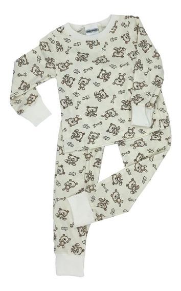 Pijama Algodon Con Tela Estampada Ositos