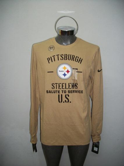Playera Militar Steelers Pittsburgh Nfl Original Nike At6090