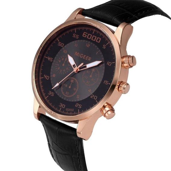 Relógio Masculino De Couro