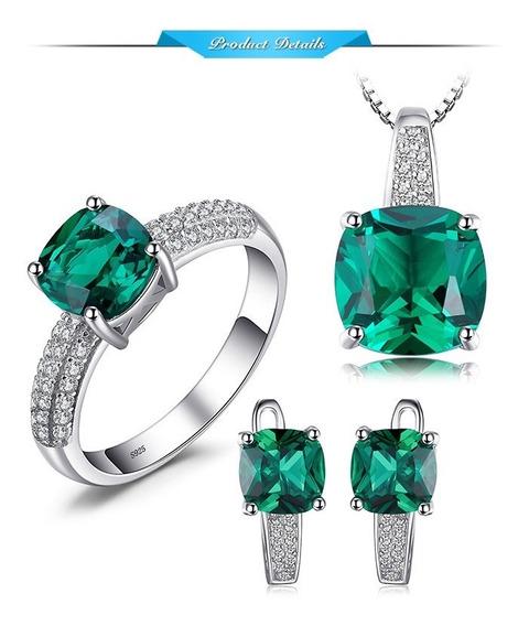 Anel De Esmeralda Jewelrypalace 8.7conjunto De Anel, Pingent
