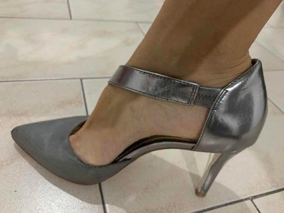 Zapatos Taco Aguja Plateados Alfani 7.5m Usa (talle 38)