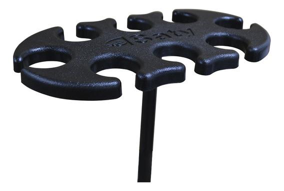 Suporte Pedestal Para 8 Microfones Descanso Saty Pm08