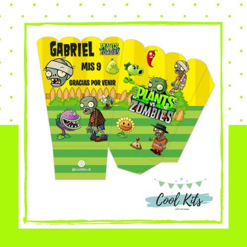 Kit Imprimible Plantas Vs Zombies Personalizado Candybar