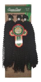 Cabelo Orgânico Megahair Cacheado Aplique 55cm 120g