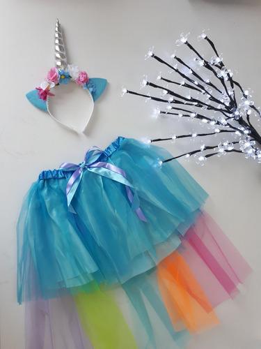 Fantasia Unicornio Azul Rosa Infantil Feminino Menina Mercado Livre