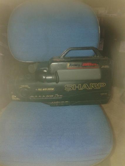 Filmadora Sharp Com Bateria E Carregador E Maleta