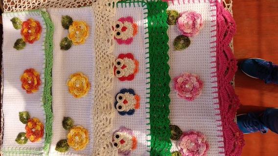 Repasadores Con Apliques En Crochet