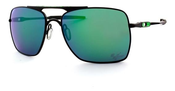 Óculos Deviation Verde Moto Gp Masculino Retro Polarizado