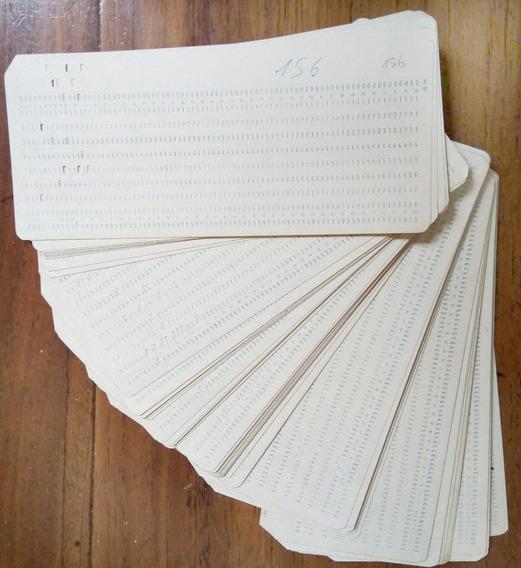 Pack De 5 Tarjetas Perforadas De Computadora - 1982