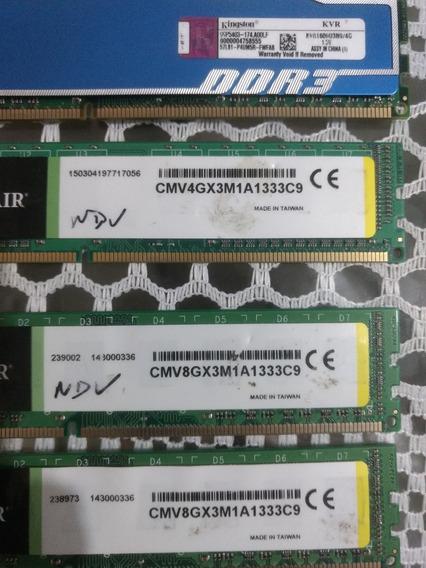 Lote De 16 Memoria Ddr 3 8 Gb 4 Gb E 2 Gb Com Defeito