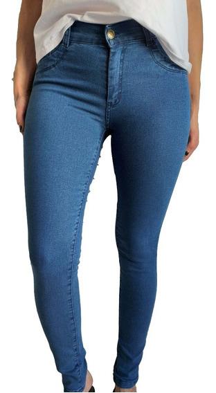 3 Jeans Mujer Chupin Tiro Alto Por Mayor Talle Grande