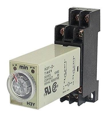 Temporizador 0-30min H3y-2 Ac220v Relé + Soquete Berme