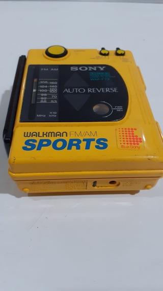 Walkman Sony Wm F63/f73 Vintage Amarelo Sports No Estado
