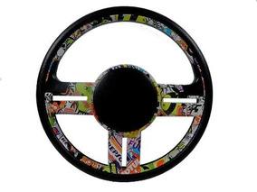 Volante Gol Rallye Stickers Bombs Universal Vw Gm Fiat Ford