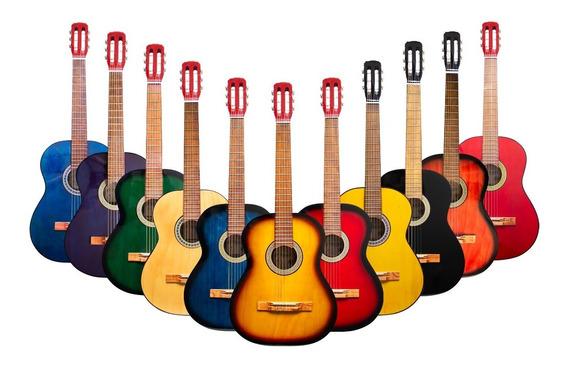 Guitarra Criolla Estudio Funda Y Pua De Regalo Cuotas