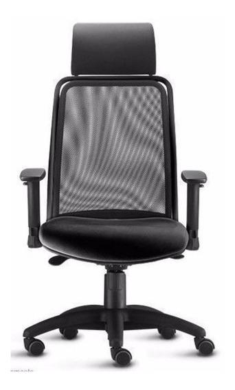 Cadeira Presidente Soul Com Apoio De Cabeça E Braços