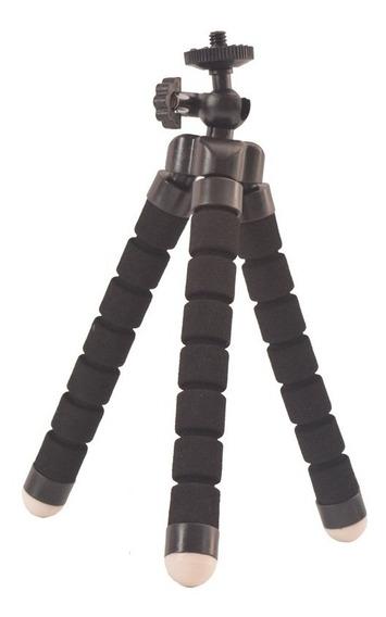 Mini Tripe Flexível Suporte Universal Câmera E Celular
