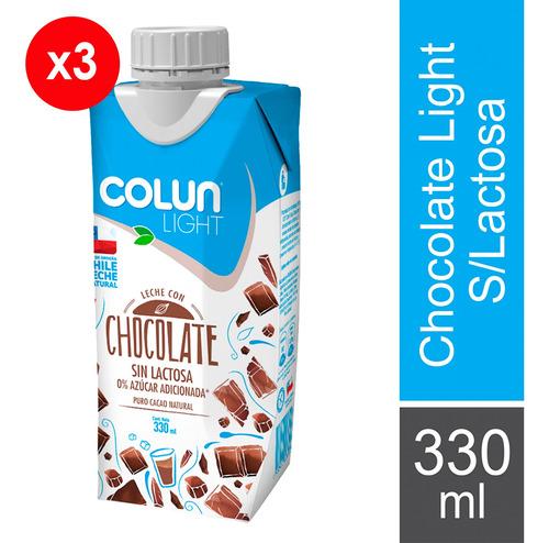 3 Leche Con Chocolate Sin Lactosa Light - 330cc - Colun